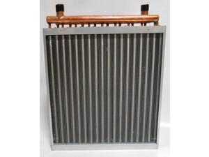 22x24 Water to Air Heat Exchanger Hot Water Coil Outdoor Wood Furnace