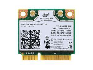 Intel Dual Band Wireless-AC 7260 7260HMW Half Mini PCI-E Card 710661-001