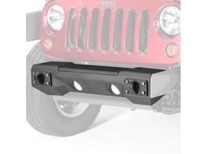 Rugged Ridge 115420.01 Steel Front Winch Bumper, 07-14 Wrangler JK Aluminum accessories only