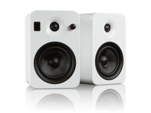Kanto YUMI Powered Bookshelf Speakers w/Bluetooth 4.0, Gloss White