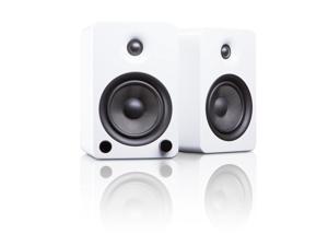 Kanto YU5 Powered Bookshelf Speakers, Gloss White