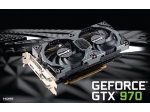 Inno3D NVIDIA Geforce GTX 970 4GB Overclocked Video Card HD1080,4K,4 monitors Gaming
