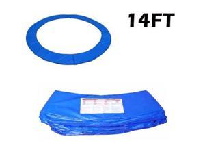 Soozier 14 FT Trampoline Pad Spring Safety Cover Replacement Round Frame - Blue