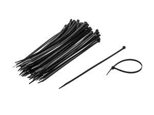 NavePoint 10 Inch Nylon UV Resistant Cable Wire Zip Tie 50 lbs - Black 400 Pack Lot Pcs Qty