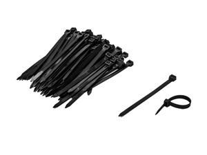 NavePoint 6 Inch Nylon UV Resistant Cable Wire Zip Tie 120 lbs - Black 500 Pack Lot Pcs Qty