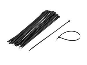 NavePoint 14 Inch Nylon UV Resistant Cable Wire Zip Tie 50 lbs - Black 1000 Pack Lot Pcs Qty
