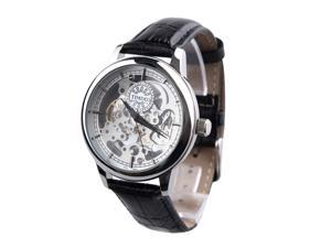 Time100 Apparent Space Full-automatical Skeleton Leather Strap Mechanical Watch #W60006G.03A