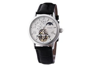TIME100 Sun Phase Multifunction Skeleton Automatic White Dial Mechanical Watch #W60011M.01A