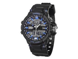 Time100 Dual Time Multifunction Outdoor Blue Sport Electronic Watch #W40110G.03A
