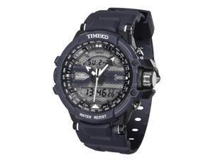 Time100 Dual Time Multifunction Outdoor Grey Sport Electronic Watch #W40110G.04A