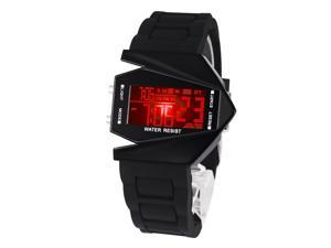 Time100 Fashion Plane Shapped Multicolor LED Dial Black Silicone Strap Electronic Digital Watch #W30023M.01A