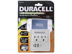 Duracell Wall Charging Station 2.1a Surge Protect & Dual USB