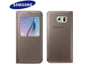 Samsung OEM Galaxy S6 S View Cover Gold