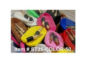 Professional Cable  ST35-COLOR-50  Aux Cables Mixed Colors 50Pk