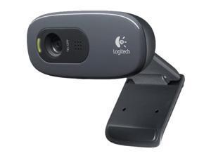Logitech C270 USB 2.0 HD Webcam - Black