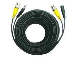 200' Security Camera Cable with Power - BNC M/DC 5.5x2, 2 in 1