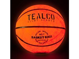 TealCo Night Sports LED-Lighted Basketball - Standard Basketball Size, Weight, and Feel. Better and Brighter Than Glow In the Dark!