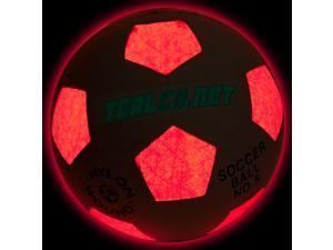 TealCo Night Sports Light-Up Soccer Ball - Standard Size & Weight, Lighted By Internal LED for Soccer Fun at Night!