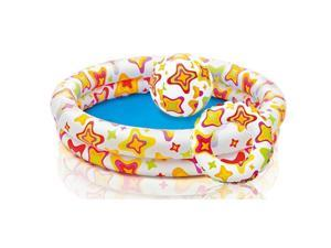 Intex Inflatable Kiddie Pool - Round Swimming Pool Set w/ Ball and Tube Toys