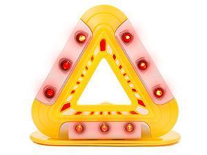 LED Flashing Emergency Triangle - Roadside Warning Lights - Hazard Lights w/ Magnetic Base