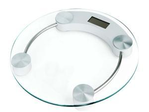 Personal Glass Digital Scale - Modern Electronic Bathroom Scale (Round)