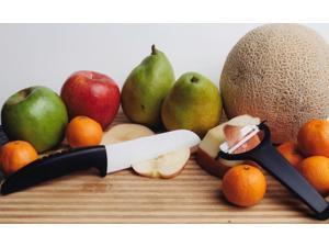 CeraSharp Ceramic Knife & Peeler Set - Super Sharp Ceramic Cutlery Knives