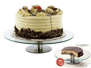 "12"" Fully Revolving Cake Stand - 360 Degree Dessert Stand Party Platter"