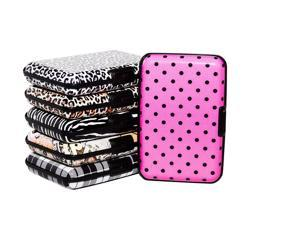 6 Pack RFID Blocking Aluminum Wallets - Identity Theft Protection Wallet & Credit Card Holder (Printed Designs)