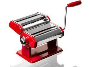 Professional Red Pasta Maker - Roller & Pasta Machine - Noodle Maker