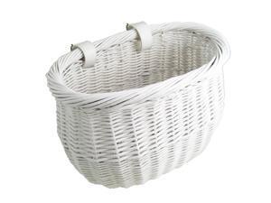 Sunlite Basket Front Willow Bushel White Strap-on
