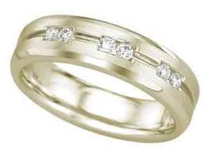 0.25 Carat Round Diamond 14K Yellow Gold Mens Wedding Ring Band size 10