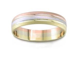 14K Tri Colored Gold Wedding Band (5.5 Mm)