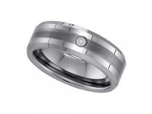 Mens Diamond Tungsten Carbide Wedding Ring Band Size 10