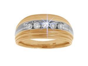 1/2 Carat Diamond 14k Two-Tone Gold Men's Wedding Anniversary Ring