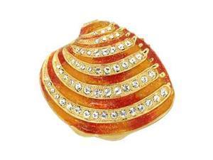 Swarovski Crystal Enamel Sea Shell Keepsake / Trinket Box - Gift Boxed