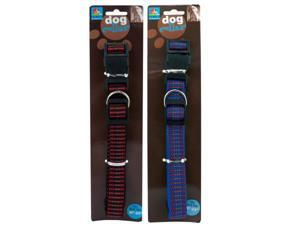 Woven Reflective Dog Collar - Set of 144 (Pet Supplies Collars Leashes Harnesses) - Wholesale