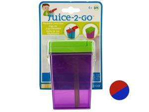 Juice-2-Go Reusable Juice Box with Straw - Set of 72 (Kitchen Dining Portable Food Beverage) - Wholesale