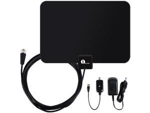 1Byone Paper Thin Digital Indoor TV HDTV Antenna with Soft Design Excellent Reception