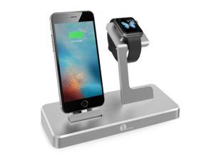 1byone 3-in-1 Charging Dock for iPhone iPad & Apple Watch, Apple MFi Certified Power Station in Aluminium Alloy, Grey