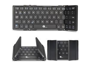 1byone Foldable Bluetooth Keyboard for iOS, Android, Windows, PC, Tablets and Smartphone, Black