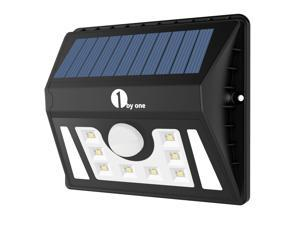 1byone Weatherproof Solar Powered Outdoor LED Light 3 Different Modes w/ Security Motion Sensor