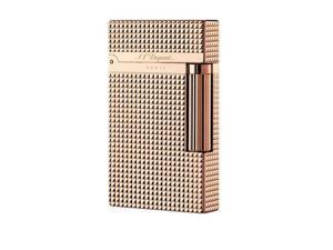 Rose Gold S.T Memorial Dupont lighter Bright Sound Grid in box