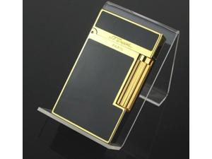 Gold S.T Memorial Dupont lighter Bright Sound Grid in box
