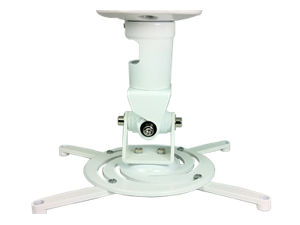 Amer Mounts Universal Celing Projector Mount Supports Up To 30 lbs - White