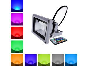 SunGET 16 Colors  Changing 10W RGB LED Flood Light Multi-color IR Wireless Control Outdoor High Power Garden Landscape Outdoor Waterproof