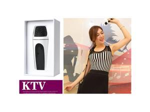IMAGE®Fashion Mini Pocket Karaoke Microphone for iphone Condenser Microphone Studio Handheld Cordless Mic For Smart Android Phones White