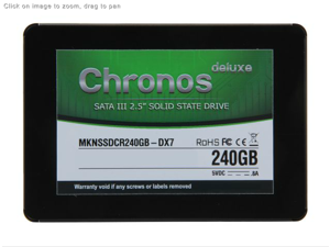 Mushkin MKNSSDCR240GB-DX7 SOLID STATE DRIVE Chronos Deluxe SATA III 6Gbps 240GB