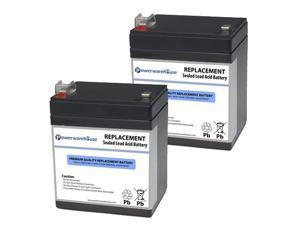 Powerwarehouse APC RBC46 UPS Battery - Premium Powerwarehouse 12V Lead Acid Battery Catridge #46 (2 Pack)