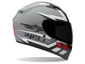 2014 Bell Qualifier Legion Motorcycle Helmets - Silver - Small
