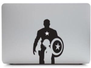 "captain america decal macbook skin decal  sticker for macbook air / pro 13"" vinyl art"